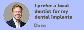 I prefer a local Utah dentist for my Dental Implants